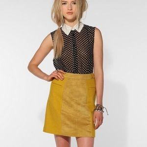 COOPERATIVE | Wool/Faux Suede Mini Skirt Sz. 4